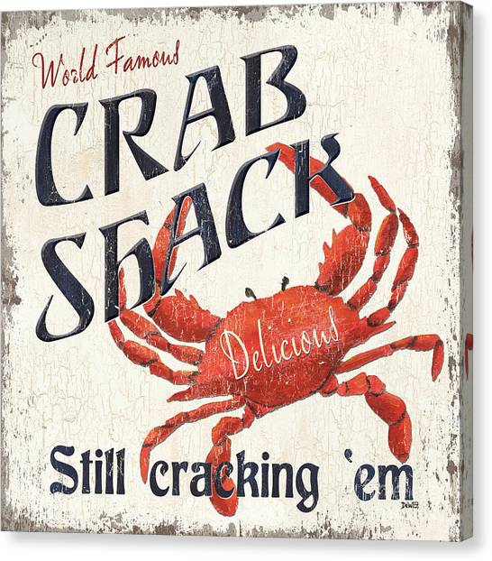 Crabs Canvas Print - Crab Shack by Debbie DeWitt
