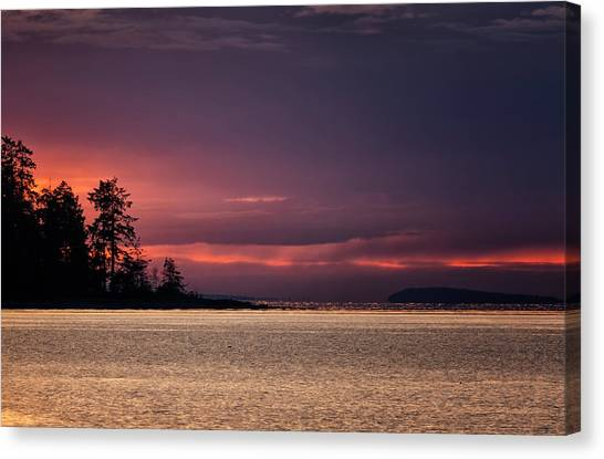 Craig Bay Sunset Canvas Print