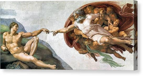 Creation Of Adam Canvas Print
