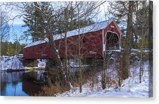 Cresson Covered Bridge. Canvas Print