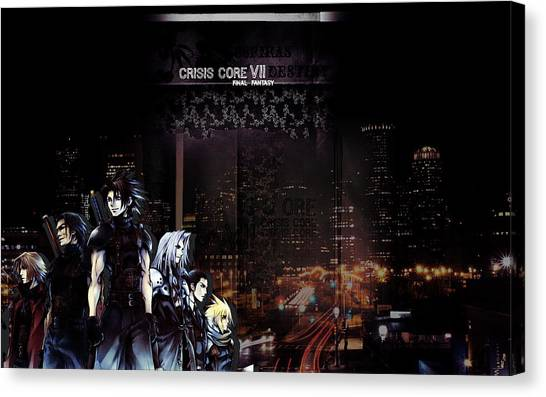 Final Fantasy Canvas Print - Crisis Core Final Fantasy Vii by Maye Loeser