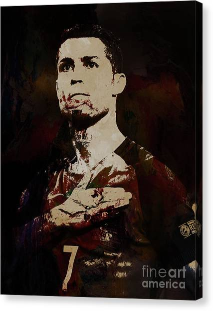 Cristiano Ronaldo Canvas Print - Chris Martin Coldplay by Gull G