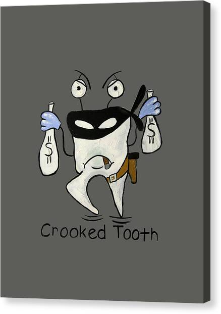 Print On Canvas Print - Crooked Tooth by Anthony Falbo