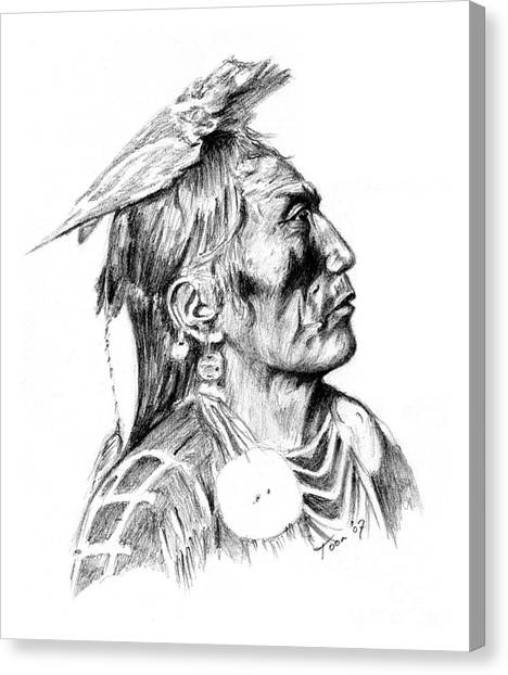 Crow Medicine Man Canvas Print