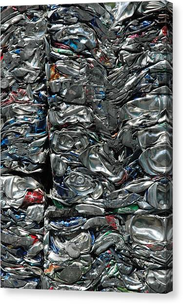 Crushed Cans Canvas Print