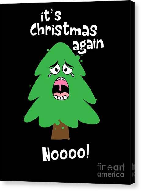 Canvas Print - Crying Christmas Tree by Thomas Larch