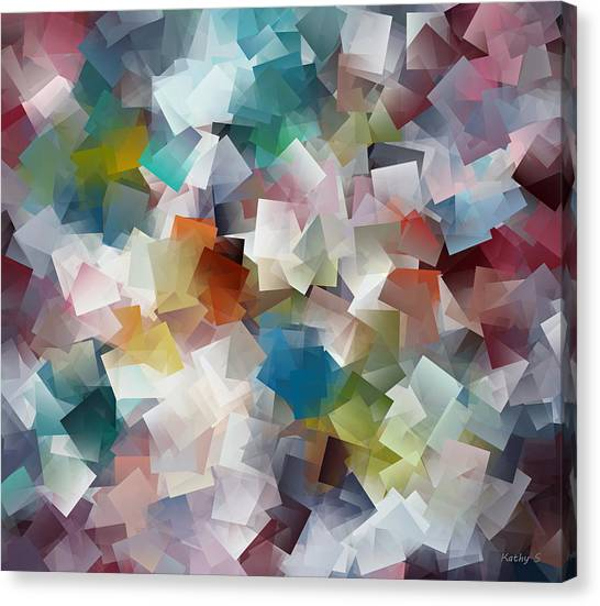 Crystal Cube Canvas Print