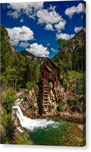 Crystal Mill Canvas Print - Crystal Mill by Mountain Dreams