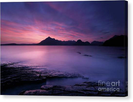 Cuillins At Sunset Canvas Print
