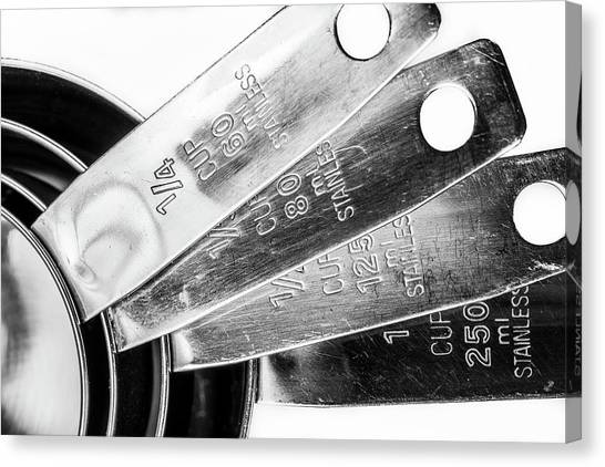 Canvas Print featuring the photograph 1 Cup Measure And Siblings. by Gary Gillette