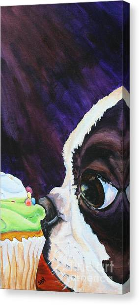 Cupcake Kid Canvas Print