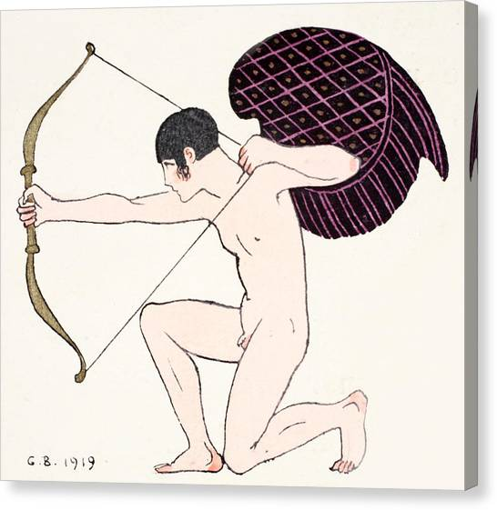 Cupid Canvas Print - Cupid by Georges Barbier