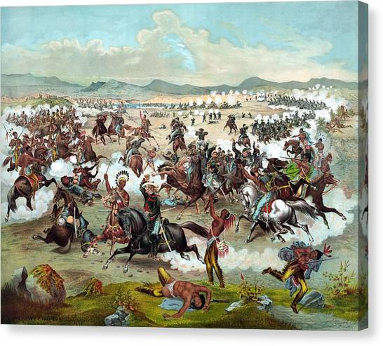 Last Canvas Print - Custer's Last Stand by War Is Hell Store