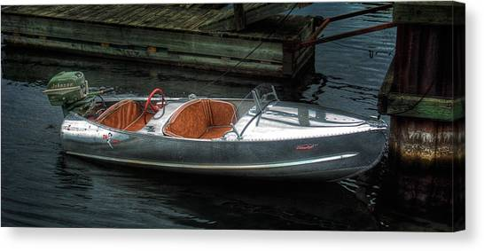 Cute Boat - 1948 Feather Craft Canvas Print