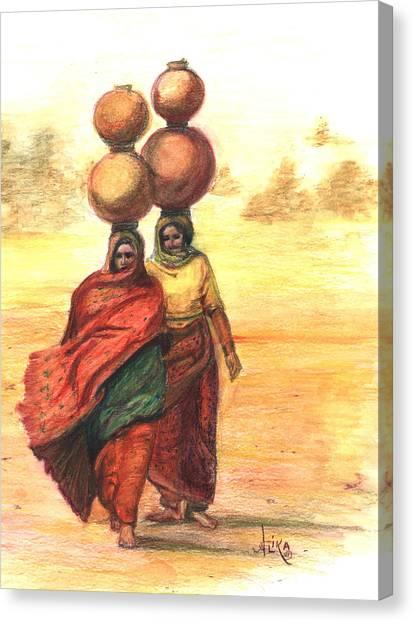 Daily Desert Dance  Canvas Print