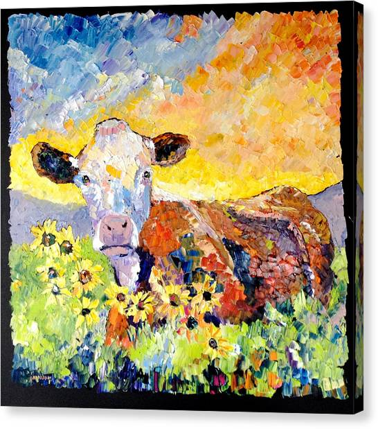White Face Cow Canvas Prints (Page #3 of 12) | Fine Art America