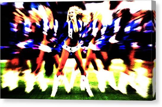 Dallas Cowboys Cheerleaders Canvas Print - Dallas Cowboys Cheerleaders by Brian Reaves