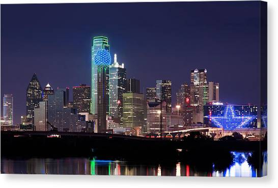 Dallas Skyline Cowboys Canvas Print