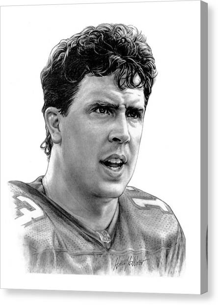 Dan Marino Canvas Print - Dan Marino by Harry West