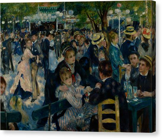 Dance At Le Moulin De La Galette  Canvas Print