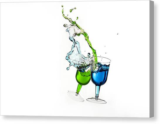 Dancing Drinks Canvas Print