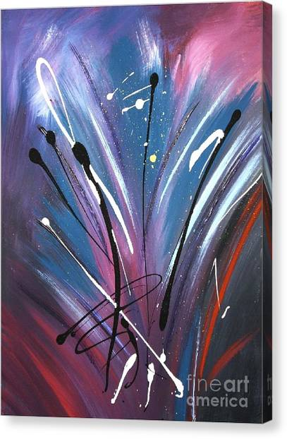 Dancing In Space Canvas Print