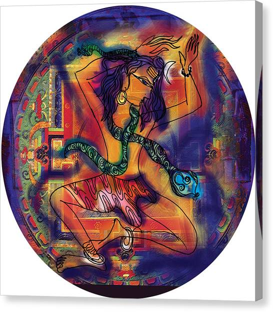 Dancing Shiva Canvas Print