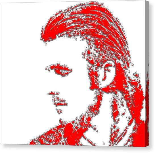 British Premier League Canvas Print - David Beckham 4b by Brian Reaves