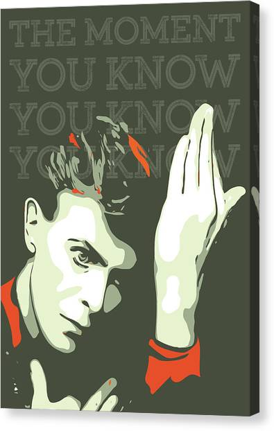 David Bowie Canvas Print - David Bowie by Greatom London