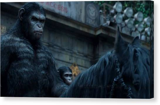 Gorillas Canvas Print - Dawn Of The Planet Of The Apes by Super Lovely