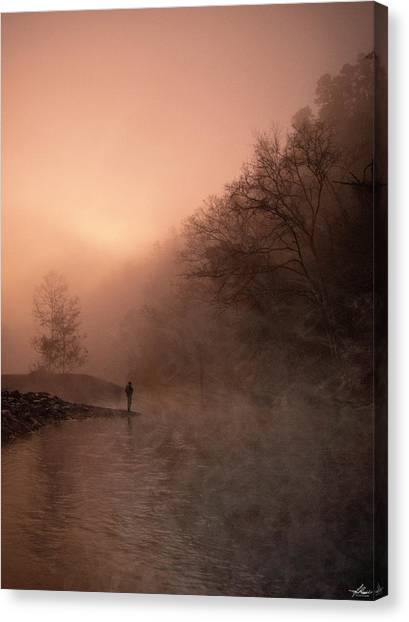Dawn On The Lower Mountain Fork River Canvas Print