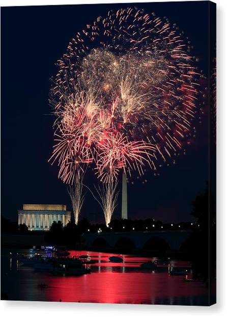 Dc 4th Of July Canvas Print