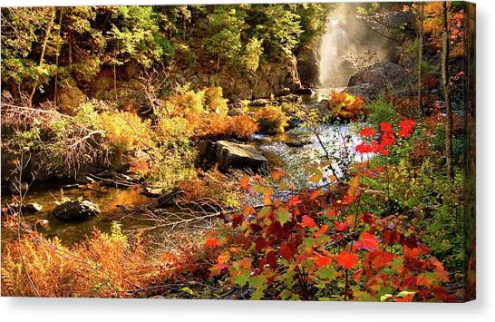 Dead River Falls  Marquette Michigan Canvas Print