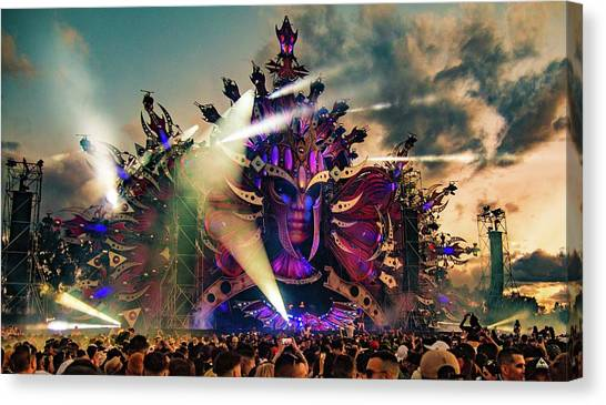 Speakers Canvas Print - Defqon1 2017 by Leon Jones
