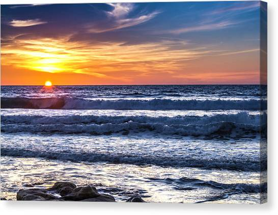 Sunset - Del Mar, California View 1 Canvas Print