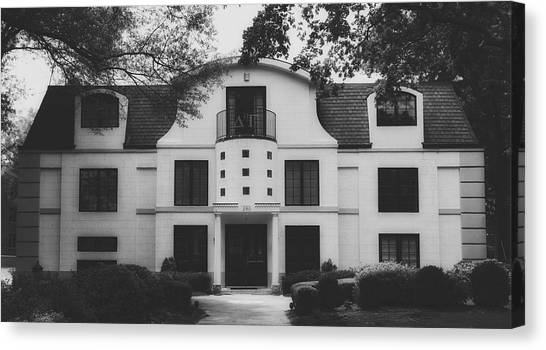 Delta Gamma Canvas Print - Delta Gamma Sorority House - University Of Georgia by Library Of Congress