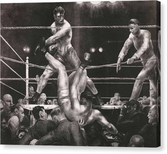 Knockout Canvas Print - Dempsey And Firpo by George Bellows