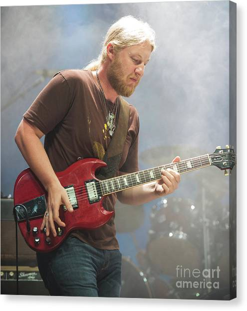 The Allman Brothers Band Canvas Print - Derek Trucks With The Allman Brothers Band by David Oppenheimer