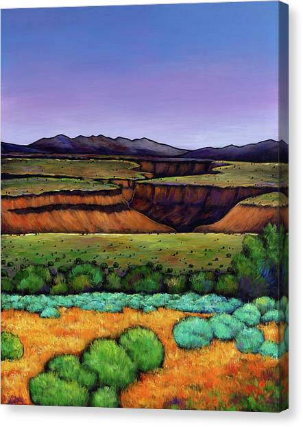 Rio Grande Canvas Print - Desert Gorge by Johnathan Harris