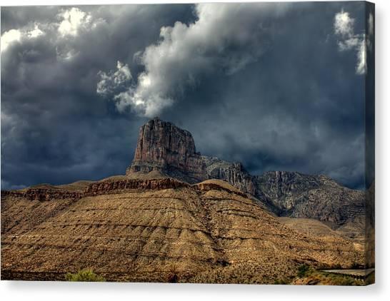 Desert Storm Clouds Canvas Print by Farol Tomson