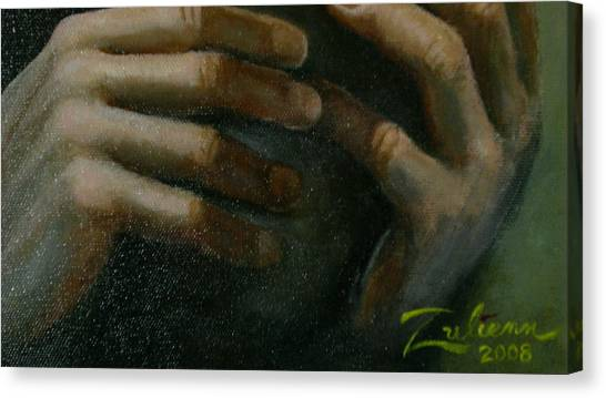 Detail - Temptation Of Christ Canvas Print by R Zulienn