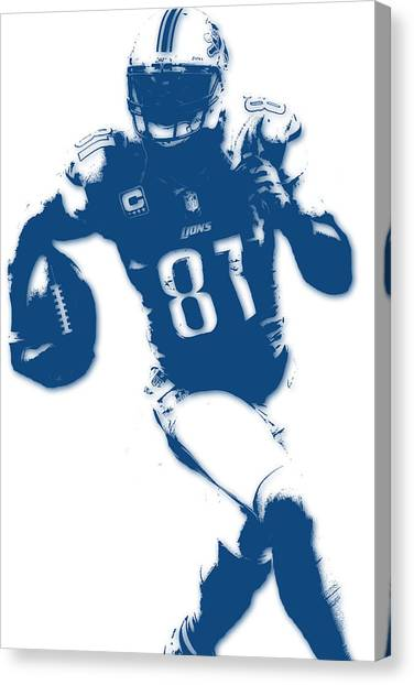 Detroit Lions Canvas Print - Detroit Lions Calvin Johnson by Joe Hamilton