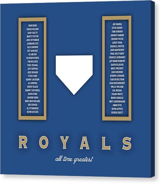 Kansas City Royals Canvas Print - Kansas City Royals Art - Mlb Baseball Wall Print by Damon Gray