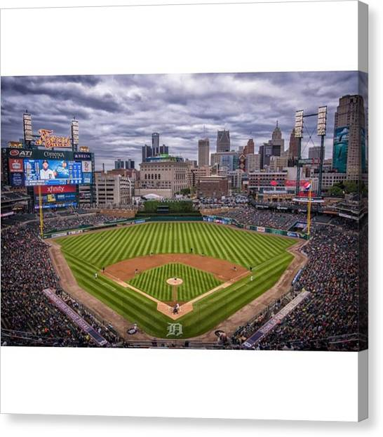 Baseball Canvas Print - #detroittigers #detroittigersbaseball by David Haskett II