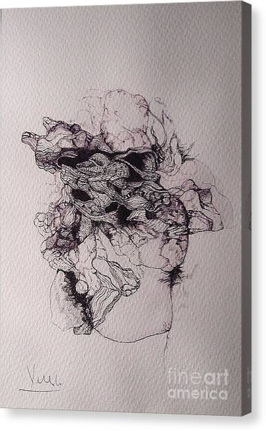 Dibujo Canvas Print by Cesar Velasco