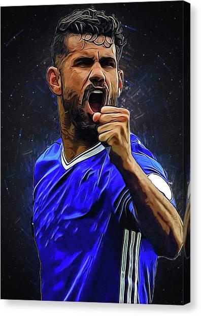 Eden Hazard Canvas Print - Diego Costa by Semih Yurdabak