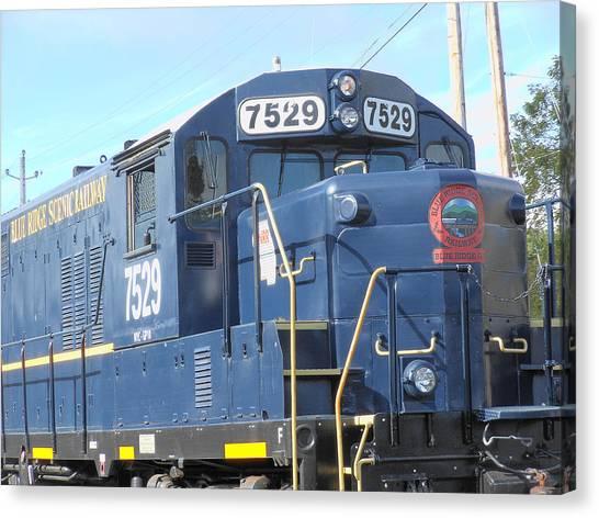 Diesel Engline Train Canvas Print