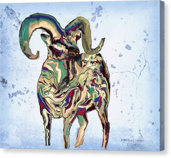 Digital Bighorn Ram Canvas Print