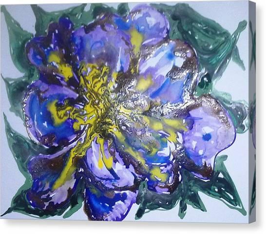 Digital Flower Painting Canvas Print by Baljit Chadha
