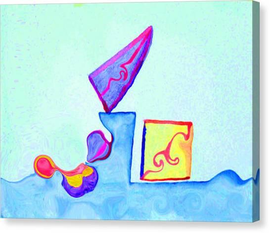 Digital Geometry Canvas Print